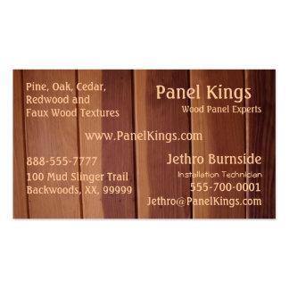 Textura de madera del panel tarjetas de visita