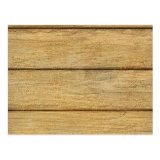 Textura de madera del panel postales