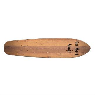 ¿textura de madera del piso, conseguida la madera  skate boards