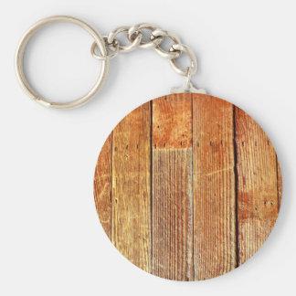 Textura de madera del piso (de la madera dura) llaveros personalizados