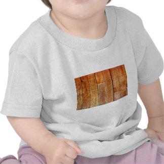 Textura de madera del piso (de la madera dura) camiseta