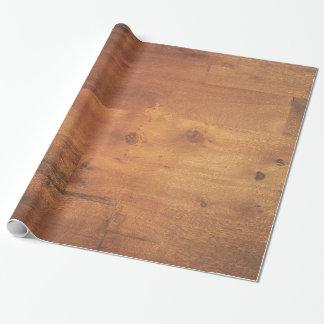 Textura de madera elegante de la viruta del grano papel de regalo