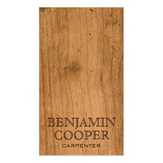 Textura de madera - estilo B Tarjetas De Visita