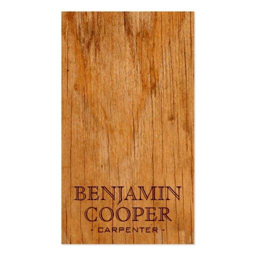 Textura de madera - estilo D Tarjetas De Visita