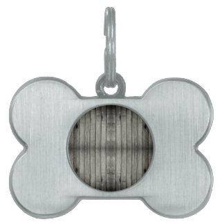 Textura de madera fantasmagórica oscura placa de nombre de mascota