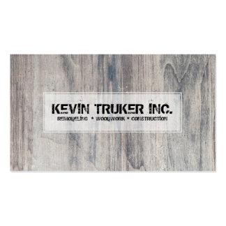 Textura de madera gris que remodela diseño de la tarjetas de visita