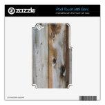 TEXTURA DE MADERA GRIS SKINS PARA iPod TOUCH 4G