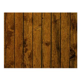 Textura de madera marrón resistida de la pared tarjeta postal