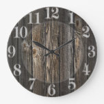 Textura de madera natural del fondo relojes de pared