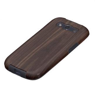 Textura de madera oscura de caoba del grano de Cho Galaxy S3 Cárcasa