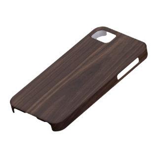 Textura de madera oscura de caoba del grano del funda para iPhone SE/5/5s
