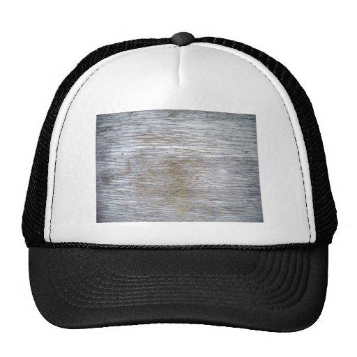 Textura de madera pintada blanco gorra