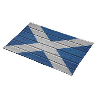Textura de madera Placemat del tablón de Escocia Mantel