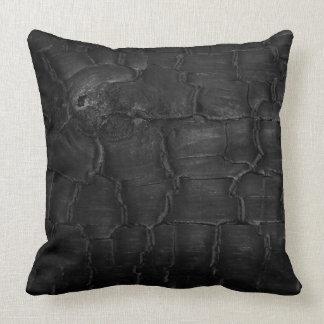 Textura de madera quemada 02 del detalle del grano cojin