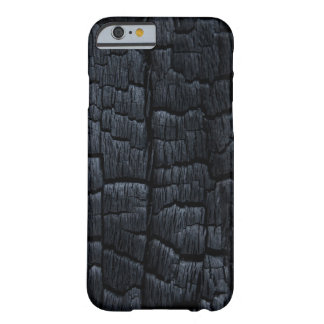 Textura de madera quemada funda para iPhone 6 barely there