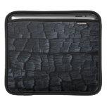 Textura de madera quemada fundas para iPads