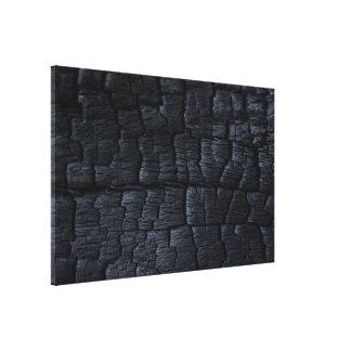 Textura de madera quemada impresion de lienzo