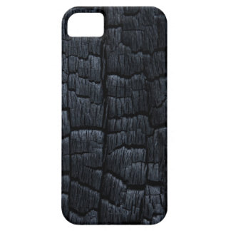 Textura de madera quemada iPhone 5 fundas