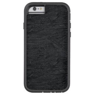 Textura de madera quemada negro fresco funda de iPhone 6 tough xtreme