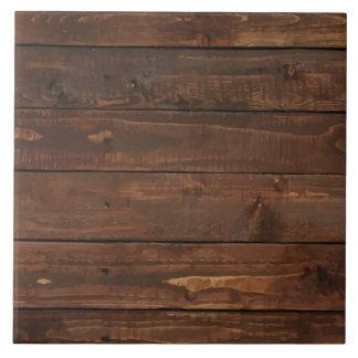 Textura de madera resistida de la pared de Brown Azulejo Cuadrado Grande