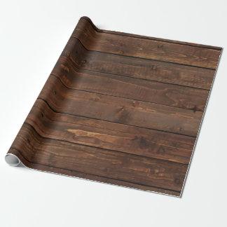 Textura de madera resistida de la pared de Brown Papel De Regalo