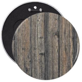 Textura de madera resistida de la pared pin redondo de 6 pulgadas