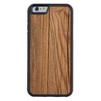 Textura de madera resistida del fondo del tablero funda de iPhone 6 bumper cerezo