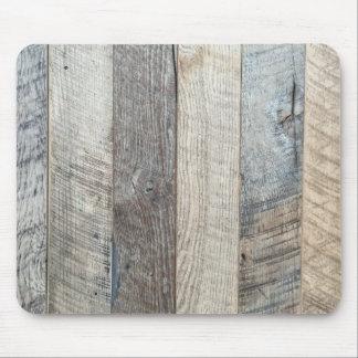 Textura de madera resistida del fondo del tablón alfombrillas de ratones