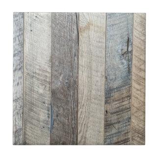 Textura de madera resistida del fondo del tablón azulejo cuadrado pequeño
