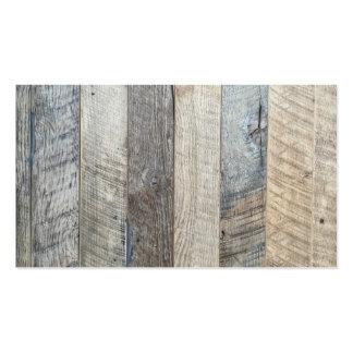 Textura de madera resistida del fondo del tablón tarjetas de visita