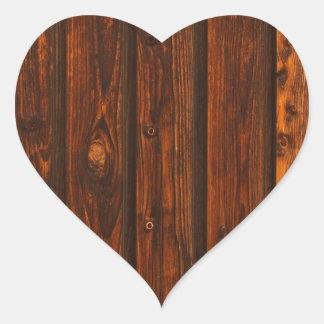 Textura de madera roja de la pared calcomanías corazones