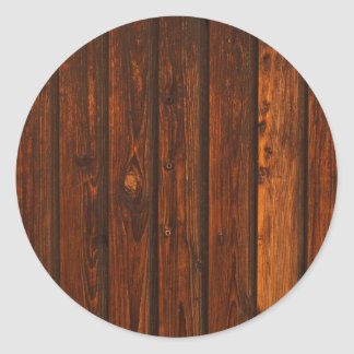 Textura de madera roja de la pared etiqueta redonda