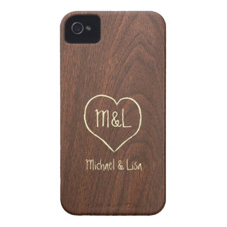 Textura de madera roja personalizada con el iPhone 4 coberturas