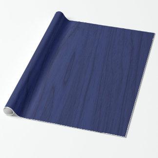 Textura de madera rústica de los azules marinos papel de regalo