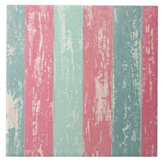 Textura de madera rústica del Grunge de la cerca Azulejo Cuadrado Grande