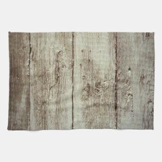 Textura de madera rústica toalla de mano