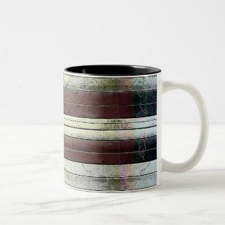 Textura de madera taza de dos tonos