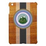 textura de madera y bici iPad mini coberturas
