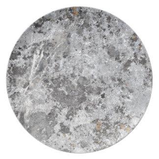 Textura de mármol del molde plato para fiesta