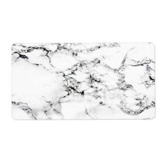 Textura de mármol etiqueta de envío