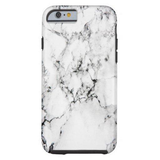 Textura de mármol funda de iPhone 6 tough