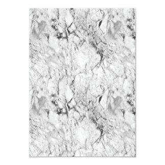 Textura de mármol invitación 12,7 x 17,8 cm