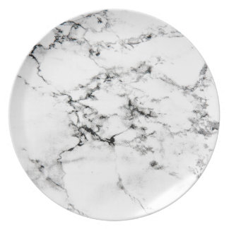 Textura de mármol plato de cena