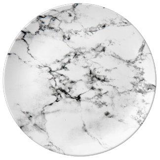Textura de mármol plato de cerámica