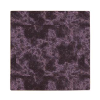 Textura de mármol púrpura posavasos de madera
