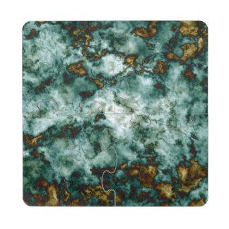 Textura de mármol verde con las venas
