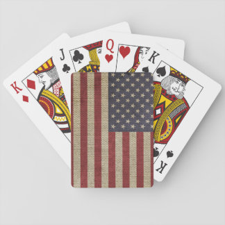 Textura de moda fresca de la arpillera de la bande baraja de cartas