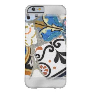 Textura de mosaico de Gaudi Funda De iPhone 6 Barely There