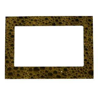 Textura de oro de las burbujas marcos magnéticos para fotos