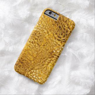 Textura de oro del vitral del fractal funda de iPhone 6 barely there